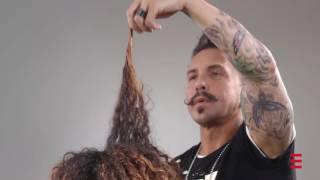 Tutorial detergere i capelli con Solange
