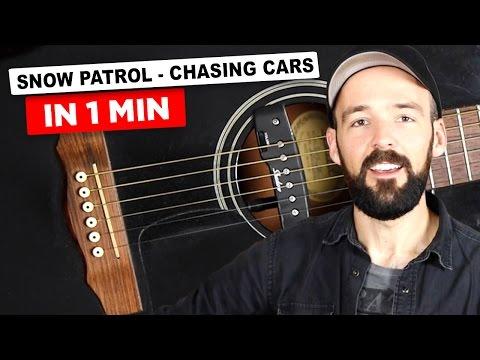 Gitarre lernen - Snow Patrol - Chasing Cars in nur 1 Minute