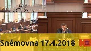 Sněmovna 17.4.2018 - postoj k Sýrii, volby do Senátu, Búšehr