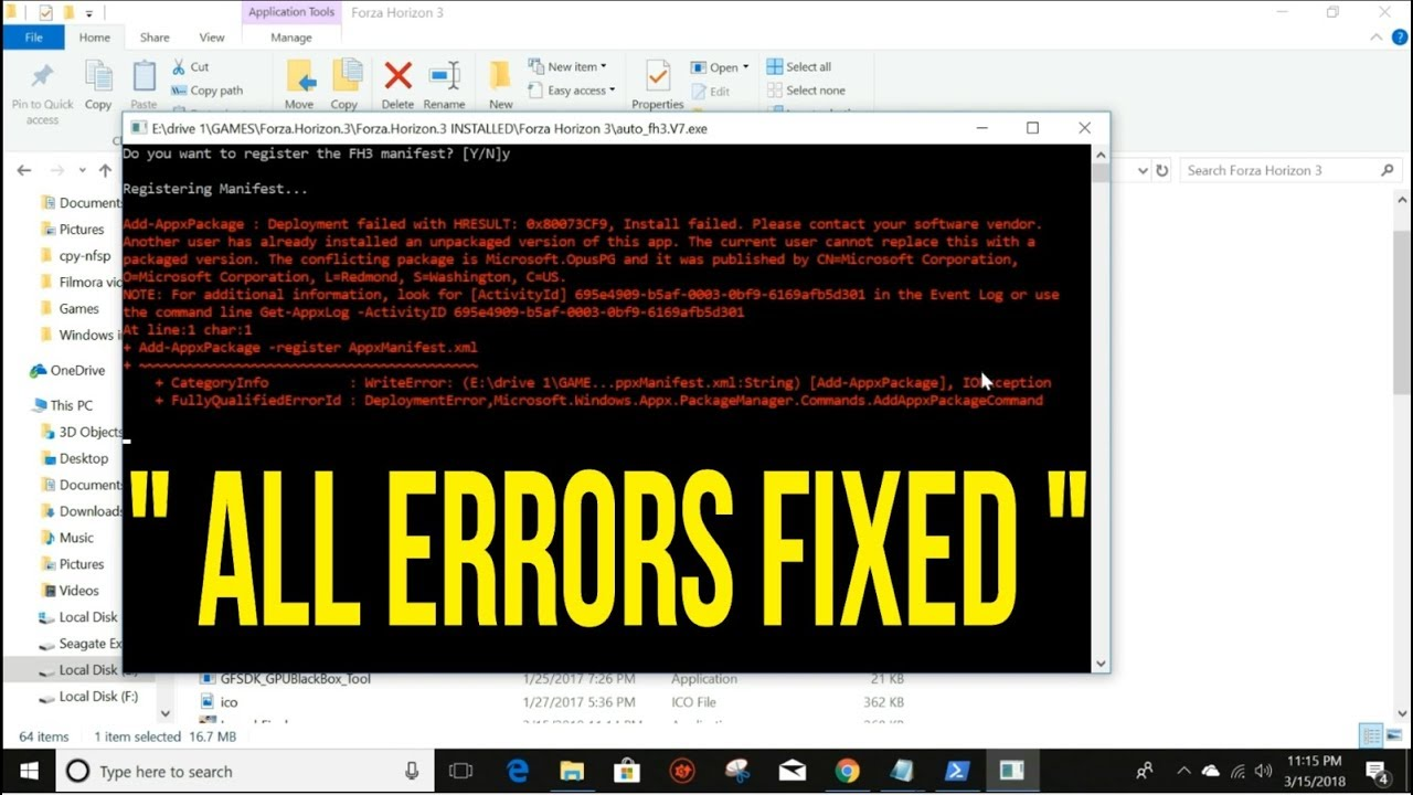 Forza Horizon 3 All Deployments Failed FIXED !