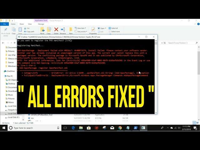 How to fix forza horizon 3 error (deployment failed