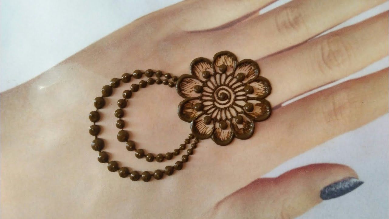 simple and easy mehndi designs for back hand
