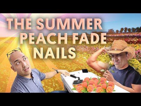 THE SUMMER PEACH FADE NAILS (ACRYLIC NAILS) - VLOG 113