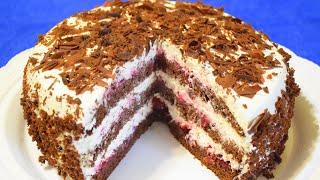 """Шоколадный Торт на Кефире """"ЧЁРНЫЙ ПРИНЦ"""" ✧ Потрясающий Нежный торт"""