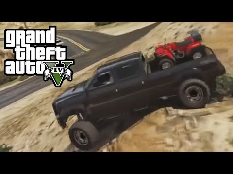 GTA 5 - Hauling ATV Up Mountain in First Person! Off-Road 4x4 - Role Playing In GTA V