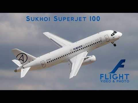 Sukhoi Superjet 100 SSJ100 Regional Airliner at MAKS - 4K Passenger Plane Video
