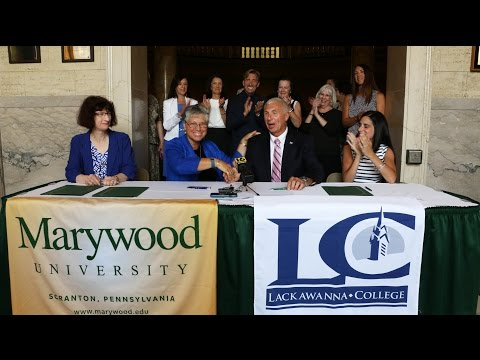 Marywood and Lackawanna College Sign Articulation Agreement