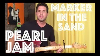 Guitar Lesson: How To Play Marker In The Sand (Mike's Part) By Pearl Jam