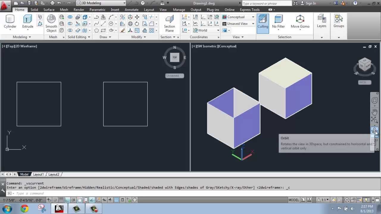 Autocad was used for rendering the remaining images - Autocad 2013 3d Modeling Basics 5 Extruding Solid Vs Surface Brooke Godfrey Youtube