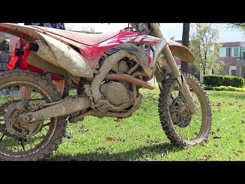 Powerwash Extremely Muddy Dirtbike!