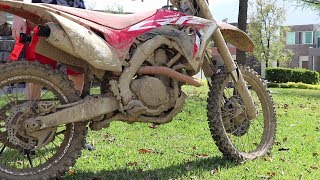 Powerwash Extremely Muddy Dirtbike!