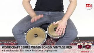 MEINL Percussion - MEINL Percussion - Woodcraft Series Wood Bongo, Vintage Red - WB400VR-M