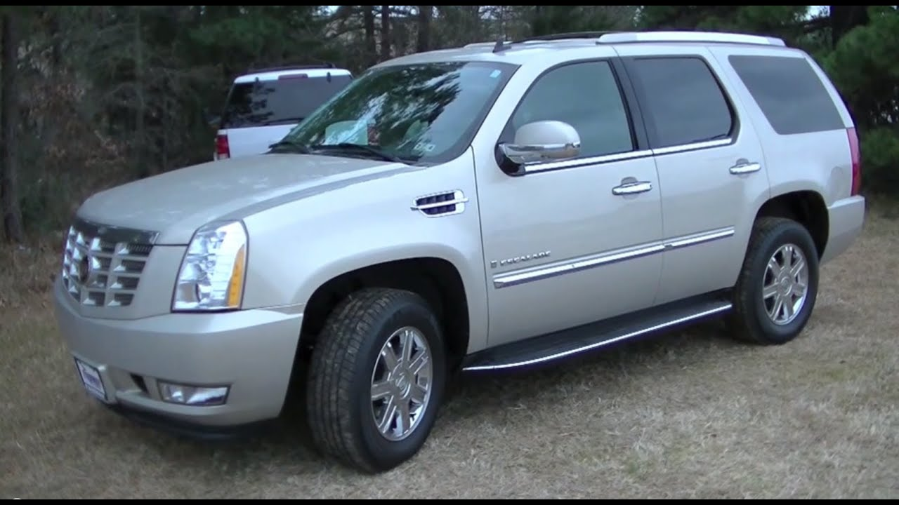 2007 cadillac escalade startup tour test drive youtube. Black Bedroom Furniture Sets. Home Design Ideas