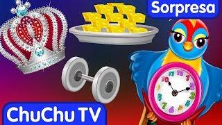 Huevos Sorpresas Canciones | Hickory Dickory Dock | Aprende los Colores | ChuChu TV Sorpresa