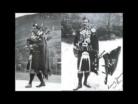 Pipe Major Willie Ross- The Balmoral Highlanders, Balmoral Castle, The Grey Bob (1910) Bagpipes