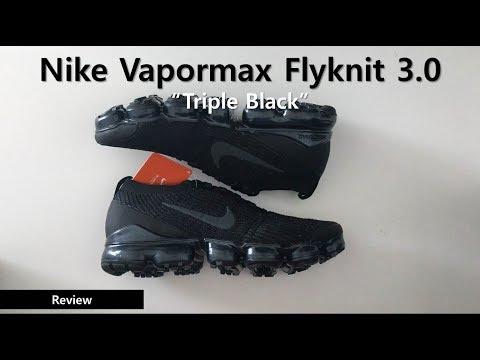 """에어 베이퍼맥스 플라이니트 3 트리플 블랙 - Nike Vapormax Flyknit 3.0 """"Triple Black""""  AJ6900-004"""
