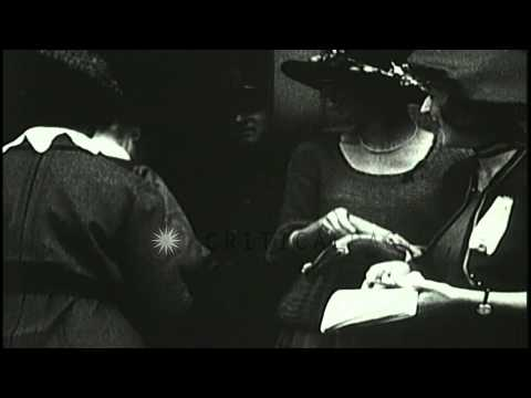 Women register to vote as full suffrage is granted to women in United States. HD Stock Footage