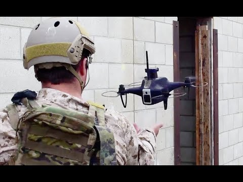 Navy SEALs training with drones for room clearing ops