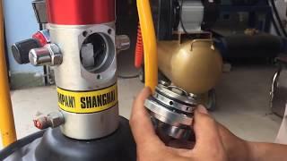 Sửa máy bơm mỡ bị xì hơi liên tục, máy bơm mỡ không ra mỡ