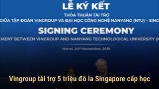 Vingroup tài trợ 5 triệu đô la Singapore cấp học bổng cho người Việt