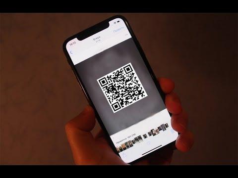 Как сканировать QR-код IPhone X