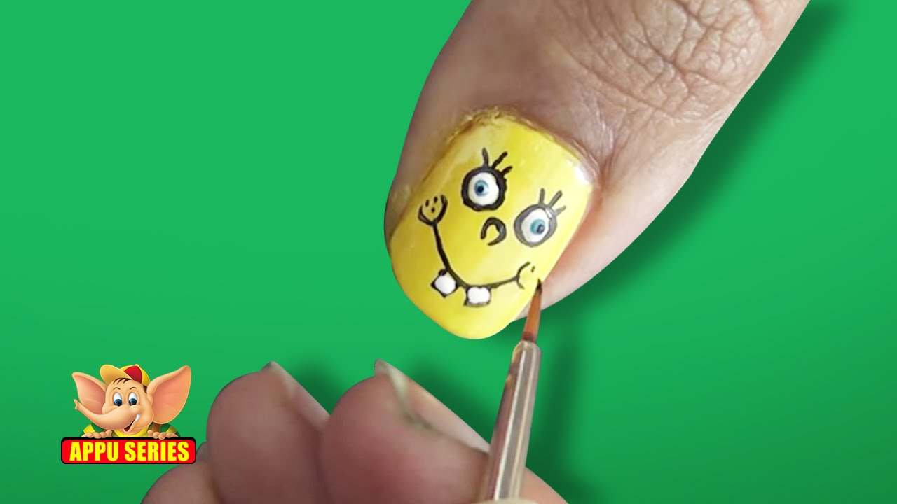 Nail art sponge bob youtube prinsesfo Image collections