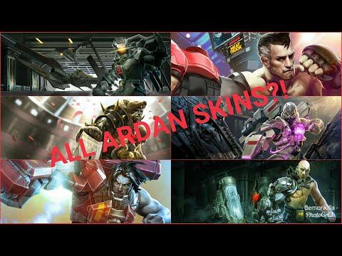 ALL Ardan Skins Display// Vainglory Update