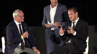 """Totti al Colosseo scherza con Ranieri: """"Il calcione a Balotelli? E' colpa tua..."""""""