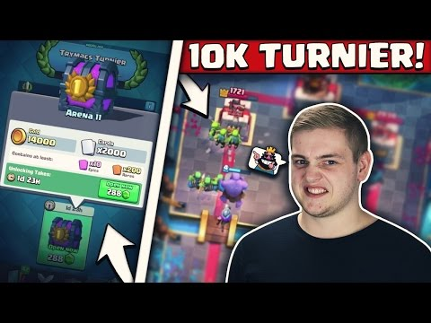 1. PLATZ 2000 KARTEN TRUHE! | 10.000 GEMS TURNIER! | Spannendes 1000 Spieler Turnier! | Clash Royale