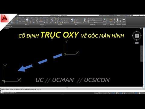 Đưa trục tọa độ Oxy về góc màn hình trong autocad // thủ thuật autocad // học autocad cơ bản