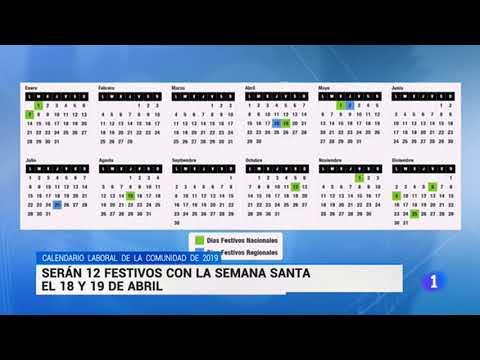 Calendario Laboral De La Construccion 2019.Calendario Laboral Comunidad De Madrid 2019 Youtube