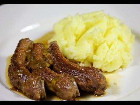 Свиные ребрышки на сковороде. Что приготовить на ужин.