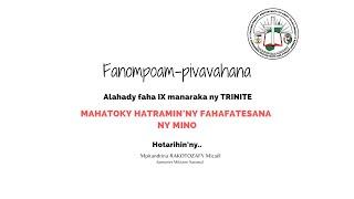 Fanompoam-pivavahana ALAHADY FAHASIVY MANARAKA NY TRINITE – 09 AOGOSITRA 2020