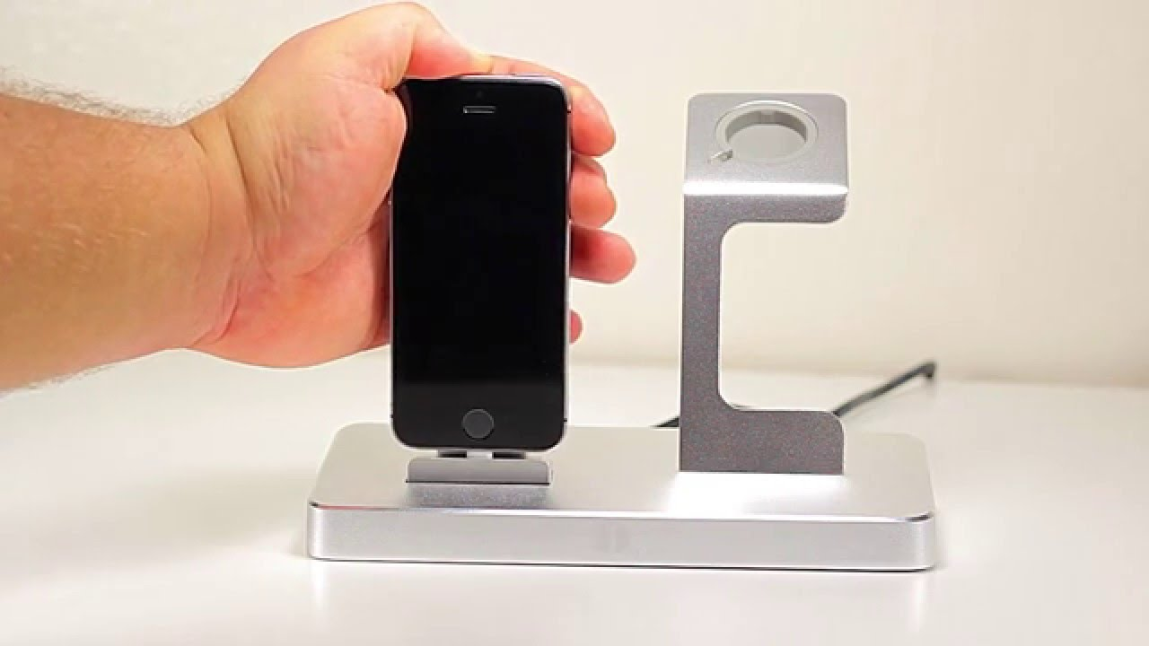 charging dock station apple watch iphone youtube. Black Bedroom Furniture Sets. Home Design Ideas