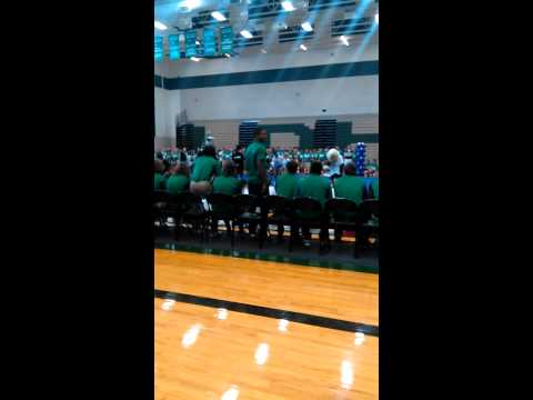 Pep rally at Lake Dallas High School 2015