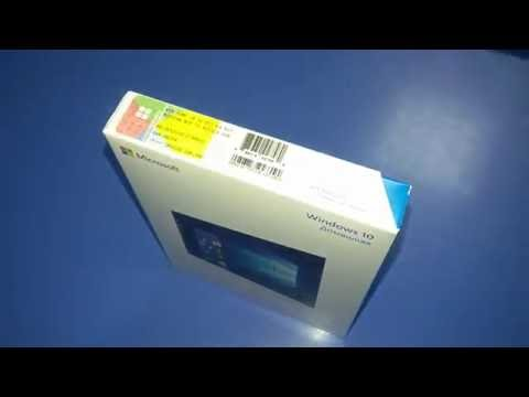 Распаковка и установка лицензионной Microsoft Windows 10 Home \ Professional BOX коробочная версия