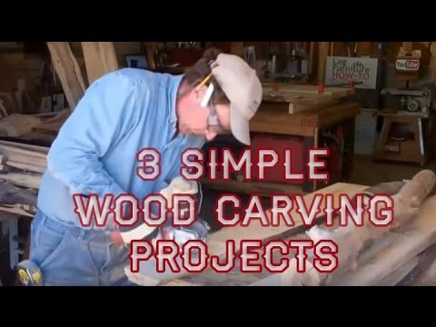 3 Simple Wood Carving Projects With Mitchell Dillman Youtube