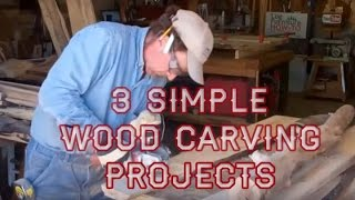 3 Simple Wood Carving Projects with Mitchell Dillman