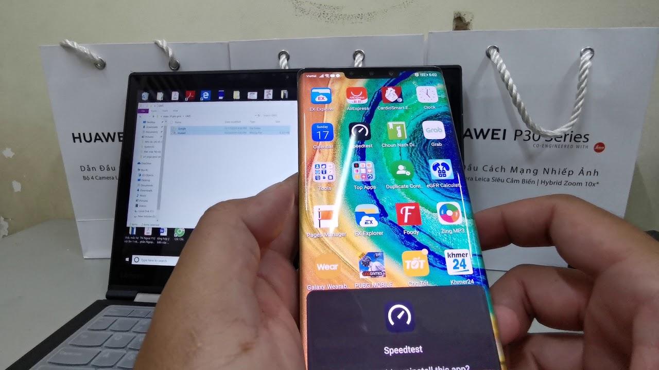 របៀបដំឡើង Google Mobile Services នៅលើទូរស័ព្ទ Huawei Mate 30 Pro (Clip 2) - YouTube