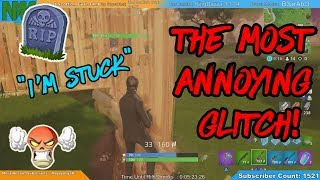 The Most ANNOYING Glitch on Fortnite!! Fortnite Noob to Pro Livestream Highlights!!