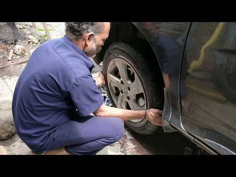 Honda City Tyre Burst | Changing Stepney Tyre's Alloy Wheels | MRF Bombay Tyres , Mumbai , India