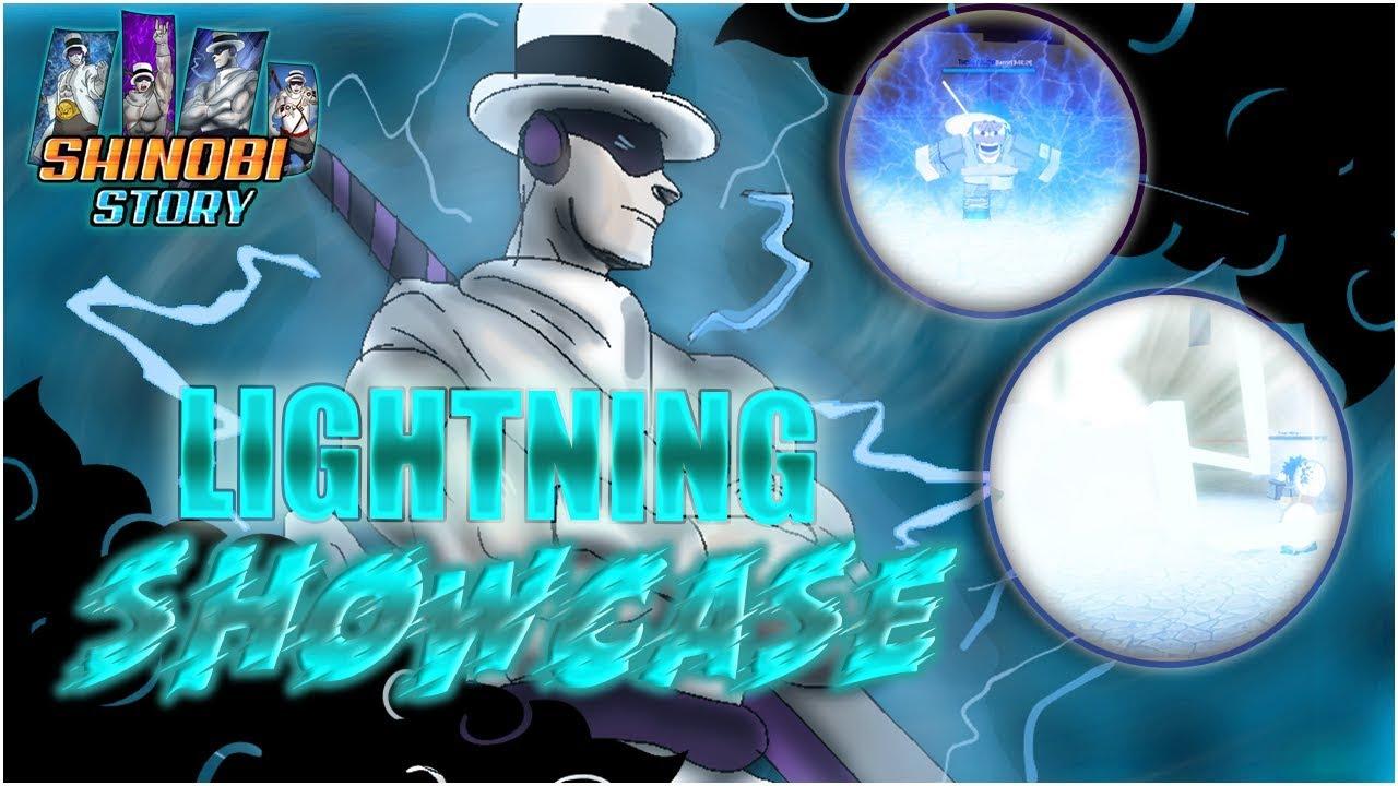 ALL Lightning Jutsu SHOWCASE in SHINOBI STORY | Roblox | Shinobi Story