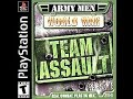 Army Men World War Team Assault (2001) Sony PlayStation 1 (PS1) Intro & Gameplay