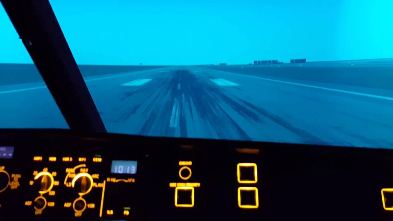A320 Simulator fix base - Take off - Landing
