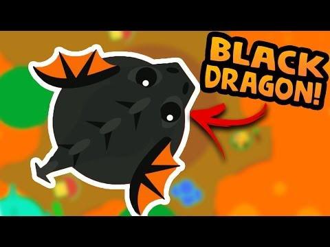 NEW MASSIVE BLACK DRAGON AND LAVA WORLD IN MOPE.IO! | Let's Play Mope.io gameplay