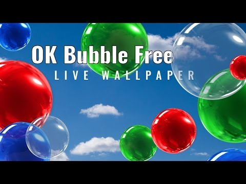 OK Bubble Live Wallpaper Free