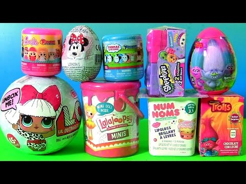 Thumbnail: NEW Surprise Toys LOL Dolls NUM NOMS Series 3.1 Lalaloopsy Paint Can, Mashems Fashems Barbie THOMAS