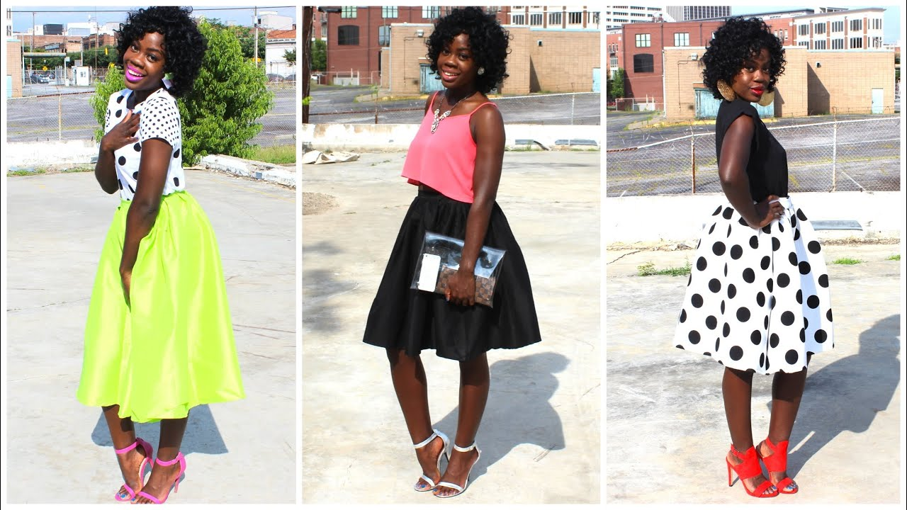 How to Style Midi Skater Skirts - YouTube