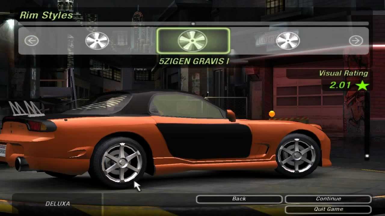 Need For Speed Underground 2 Tokyo Drift Mazda RX 7 Veilside Vinyl