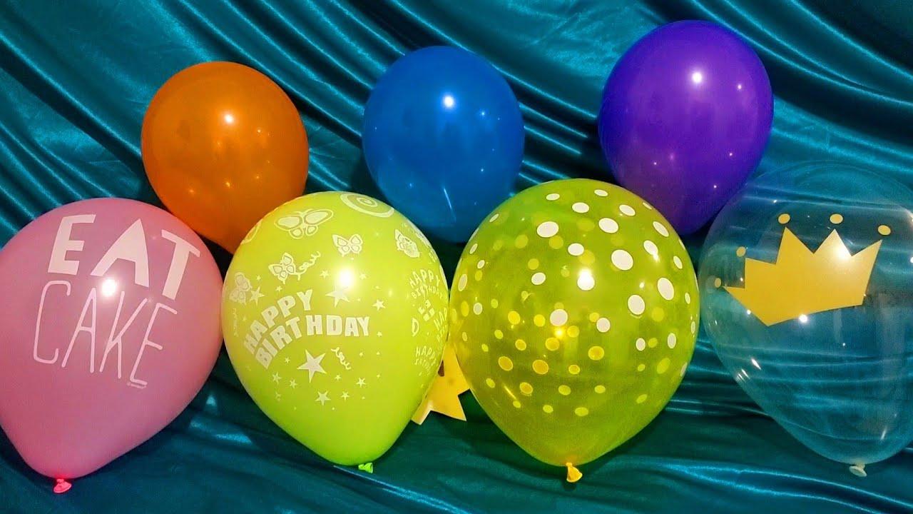 FUN BIRTHDAY BALLOONS POP PART 63!!!